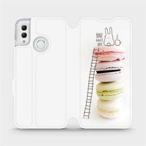 Flipové pouzdro Mobiwear na mobil Honor 10 Lite - M090P Makronky - have a nice day