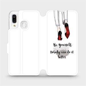 Flipové pouzdro Mobiwear na mobil Samsung Galaxy A40 - M046P Be yourself