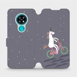 Flipové pouzdro Mobiwear na mobil Nokia 7.2 - V024P Jednorožec na kole