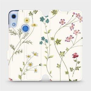Flipové pouzdro Mobiwear na mobil Huawei Y6S - MD03S Tenké rostlinky s květy