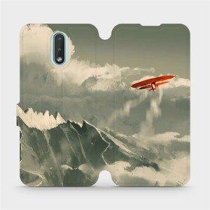 Flipové pouzdro Mobiwear na mobil Nokia 2.3 - MA03P Oranžové letadlo v horách