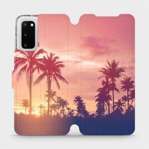 Flipové pouzdro Mobiwear na mobil Samsung Galaxy S20 - M134P Palmy a růžová obloha