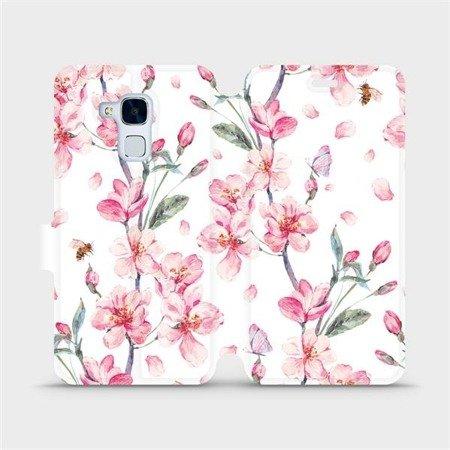 Flipové pouzdro Mobiwear na mobil Honor 7 Lite - M124S Růžové květy