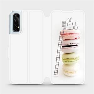 Flipové pouzdro Mobiwear na mobil Realme 7 - M090P Makronky - have a nice day