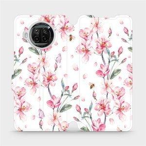 Flipové pouzdro Mobiwear na mobil Xiaomi MI 10T Lite - M124S Růžové květy