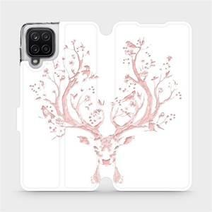 Flipové pouzdro Mobiwear na mobil Samsung Galaxy A12 - M007S Růžový jelínek