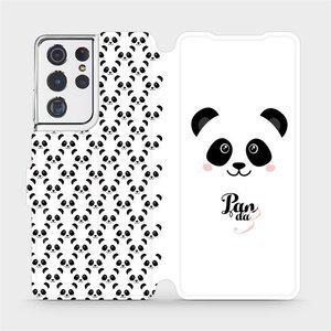 Flipové pouzdro Mobiwear na mobil Samsung Galaxy S21 Ultra 5G - M030P Panda Amálka