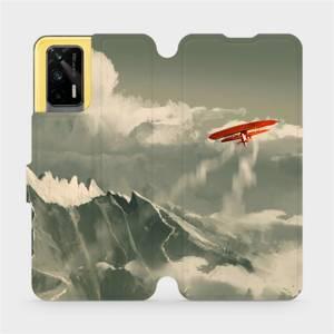 Flipové pouzdro Mobiwear na mobil Realme GT 5G - MA03P Oranžové letadlo v horách