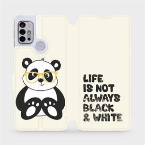 Flipové pouzdro Mobiwear na mobil Motorola Moto G10 - M041S Panda - life is not always black and white