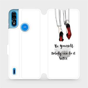 Flipové pouzdro Mobiwear na mobil Motorola Moto E7i Power - M046P Be yourself