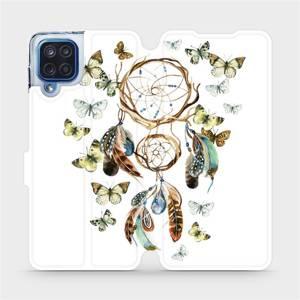 Flipové pouzdro Mobiwear na mobil Samsung Galaxy M12 - M001P Lapač a motýlci