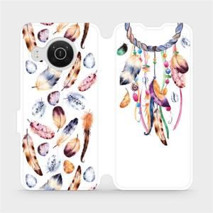 Flip pouzdro Mobiwear na mobil Nokia X10 - M003S Lapač a barevná pírka