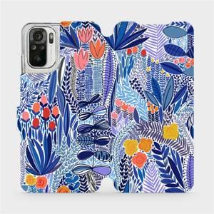 Flip pouzdro Mobiwear na mobil Xiaomi Redmi Note 10s - MP03P Modrá květena