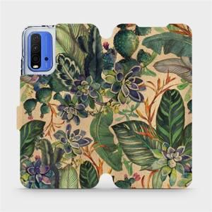 Flip pouzdro Mobiwear na mobil Xiaomi Redmi 9T - VP05S Sukulenty