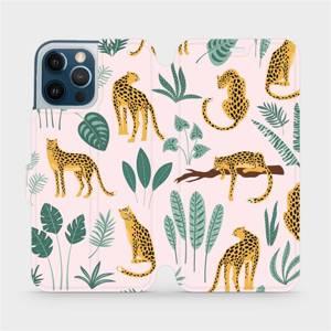 Flip pouzdro Mobiwear na mobil Apple iPhone 12 Pro Max - MP07S Leopardi