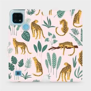 Flip pouzdro Mobiwear na mobil Realme C21 - MP07S Leopardi