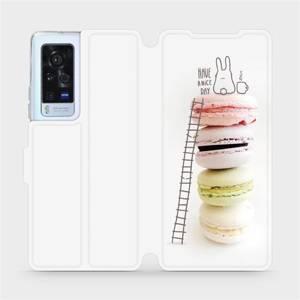 Flip pouzdro Mobiwear na mobil Vivo X60 Pro 5G - M090P Makronky - have a nice day