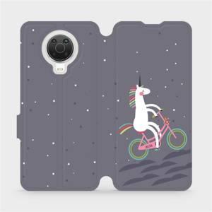 Flip pouzdro Mobiwear na mobil Nokia G20 - V024P Jednorožec na kole