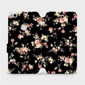 Flipové pouzdro Mobiwear na mobil Huawei P9 Lite 2017 - VD02S Květy na černé
