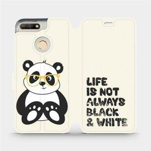 Flipové pouzdro Mobiwear na mobil Huawei Y6 Prime 2018 - M041S Panda - life is not always black and white