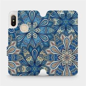Flipové pouzdro Mobiwear na mobil Xiaomi Mi A2 Lite - V108P Modré mandala květy