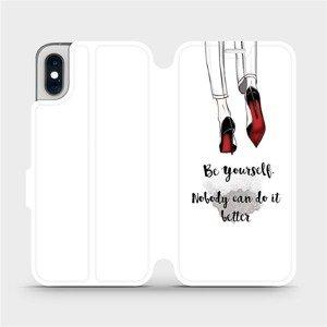 Flipové pouzdro Mobiwear na mobil Apple iPhone XS - M046P Be yourself