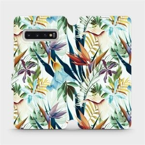 Flipové pouzdro Mobiwear na mobil Samsung Galaxy S10 - M071P Flóra
