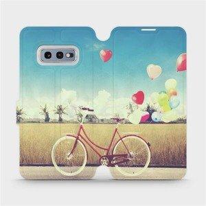 Flipové pouzdro Mobiwear na mobil Samsung Galaxy S10e - M133P Kolo a balónky