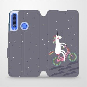 Flipové pouzdro Mobiwear na mobil Honor 20 Lite - V024P Jednorožec na kole