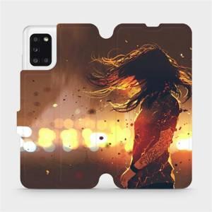 Flipové pouzdro Mobiwear na mobil Samsung Galaxy A31 - MA02S Tetovaná dívka