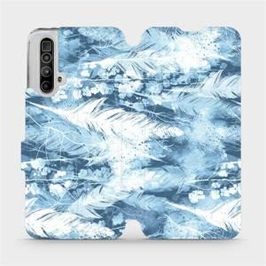 Flipové pouzdro Mobiwear na mobil Realme X3 SuperZoom - M058S Světle modrá horizontální pírka