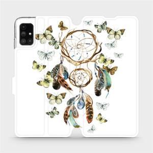Flipové pouzdro Mobiwear na mobil Samsung Galaxy M51 - M001P Lapač a motýlci