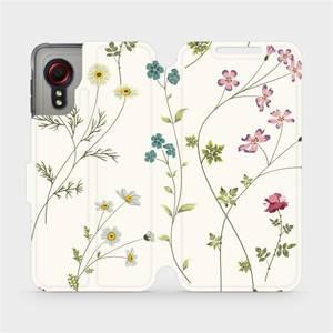 Flipové pouzdro Mobiwear na mobil Samsung Galaxy Xcover 5 - MD03S Tenké rostlinky s květy