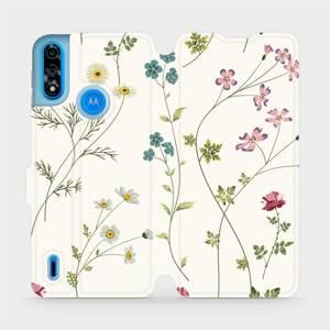 Flipové pouzdro Mobiwear na mobil Motorola Moto E7 Power - MD03S Tenké rostlinky s květy