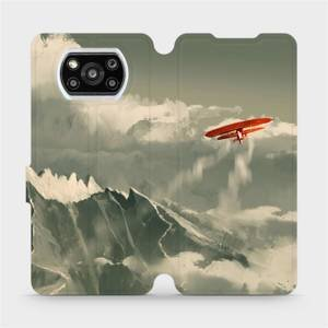 Flipové pouzdro Mobiwear na mobil Xiaomi Poco X3 Pro - MA03P Oranžové letadlo v horách