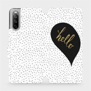 Flip pouzdro Mobiwear na mobil Sony Xperia 10 III - M013P Golden hello