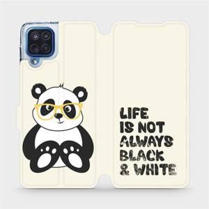 Flipové pouzdro Mobiwear na mobil Samsung Galaxy M12 - M041S Panda - life is not always black and white
