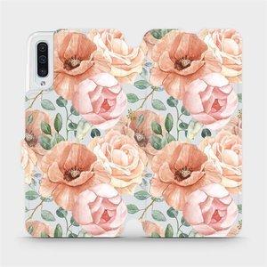 Flip pouzdro Mobiwear na mobil Samsung Galaxy A50 - MP02S Pastelové květy