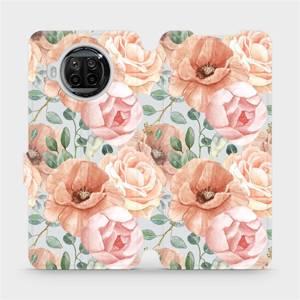 Flip pouzdro Mobiwear na mobil Xiaomi Mi 10T Lite - MP02S Pastelové květy