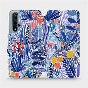 Flip pouzdro Mobiwear na mobil Huawei Nova 5T - MP03P Modrá květena