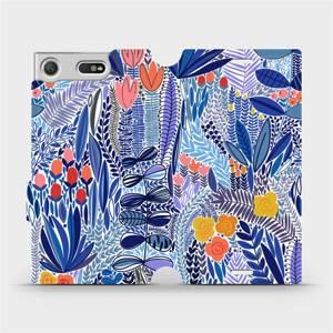 Flip pouzdro Mobiwear na mobil Sony Xperia XZ1 Compact - MP03P Modrá květena