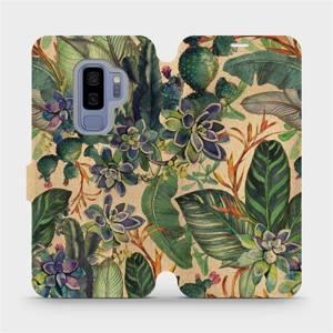 Flip pouzdro Mobiwear na mobil Samsung Galaxy S9 Plus - VP05S Sukulenty