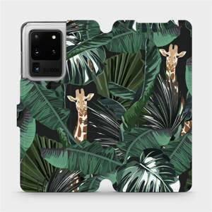 Flip pouzdro Mobiwear na mobil Samsung Galaxy S20 Ultra - VP06P Žirafky