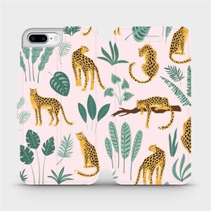 Flip pouzdro Mobiwear na mobil Apple iPhone 8 Plus - MP07S Leopardi