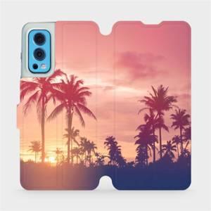 Flip pouzdro Mobiwear na mobil OnePlus Nord 2 5G - M134P Palmy a růžová obloha