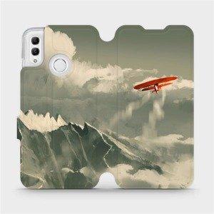 Flipové pouzdro Mobiwear na mobil Honor 10 Lite - MA03P Oranžové letadlo v horách