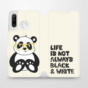 Flipové pouzdro Mobiwear na mobil Huawei P30 Lite - M041S Panda - life is not always black and white