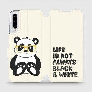 Flipové pouzdro Mobiwear na mobil Xiaomi Mi A3 - M041S Panda - life is not always black and white