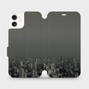 Flipové pouzdro Mobiwear na mobil Apple iPhone 11 - V063P Město v šedém hávu