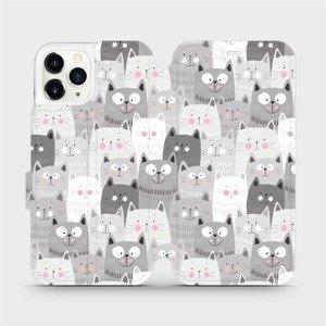 Flipové pouzdro Mobiwear na mobil Apple iPhone 11 Pro - M099P Kočičky